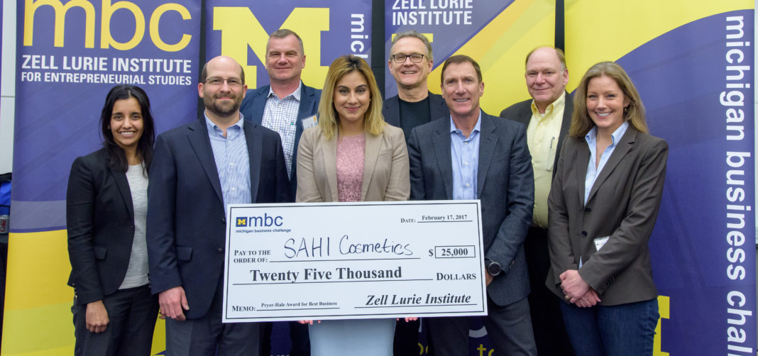 Michigan Business Challenge Winner Sahi Cosmetics 2017