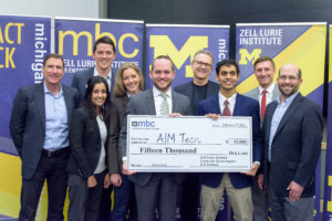 Michigan Business Challenge Impact Winner 2017 AIMtech