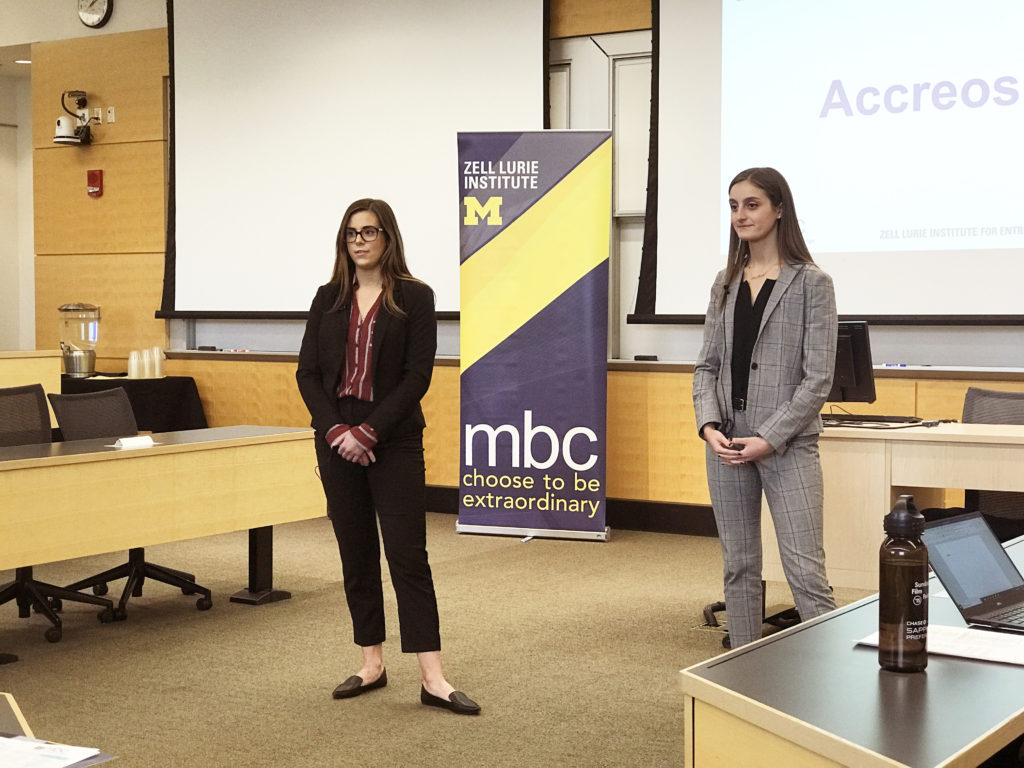 Acceros University of Michigan Business Challenge Zell Lurie Institute