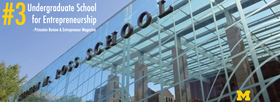 Top 3 Business School Entrepreneurship Michigan Ross